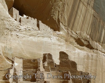 White House Ruins - Canyon de Chelly National Monument - 12x12 - High Quality Photographic Print