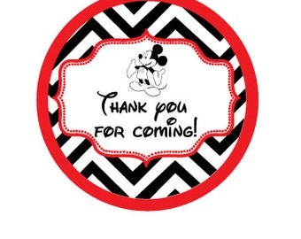 Gift Tags, Mickey Mouse, Stickers, Digital Printable