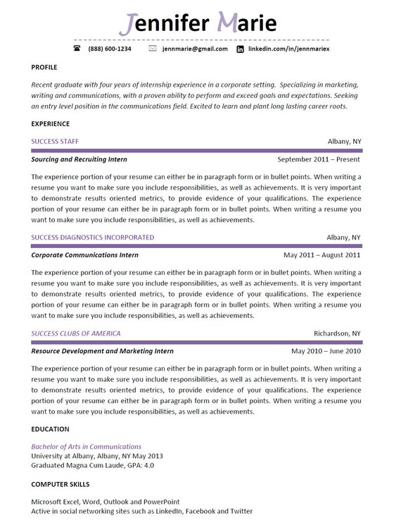 resume writing professional and modern design by successpress