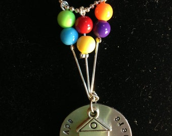 "Disney/ Pixar ""UP"" Inspired Hand Stamped Charm Necklace"