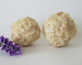 2 Lavender  Honey Soap Balls, organic ingredients