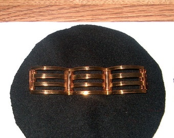 Vintage Costume Jewelry Goldtone Bar Brooch Pin