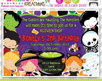 217: DIY - Halloween 11 Party Invitation Or Thank You Card
