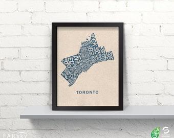 Far Sky Toronto Typographic Map