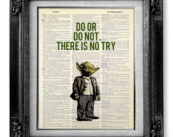 Geek Wall Art chewbacca star wars art print on dictionary page star wars