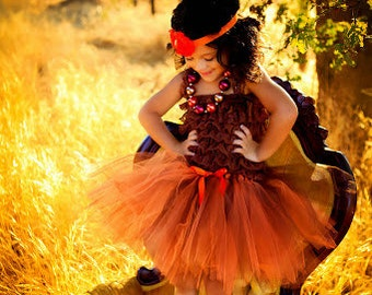 Orange and Brown Tutu, Fall Tutu, Autumn Tutu, Baby Tutu, Infant Tutu, Toddler Tutu, Girls Tutu