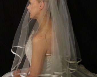 2 Tier Blusher Bridal Veil