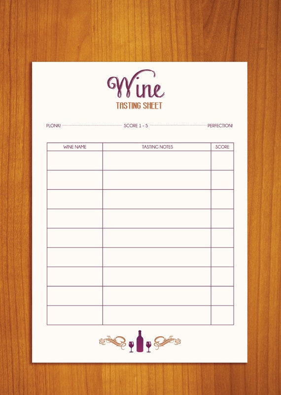 Adorable image regarding blind wine tasting sheets printable