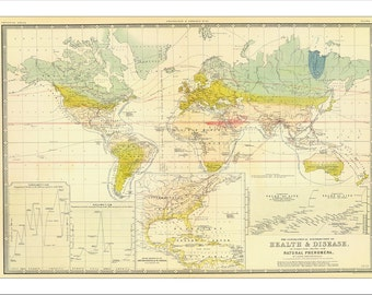 WORLD MAP 1811 , Map of the World, Vintage Map of the world
