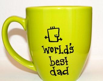 Hand Drawn World's Best Dad Mug (Customizable)