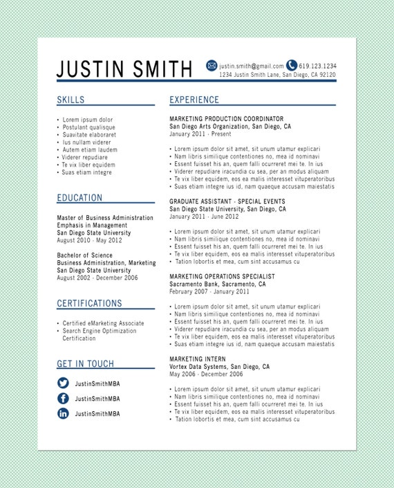 customized resume the standard by littlemissmba on etsy