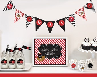 Pirate Party Banner - Pirate Birthday Banner -  Pirate Party Decorations