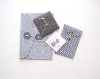 Set String Envelopes: All Greys Handmade set of 4 string envelopes