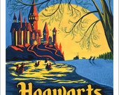 Hogwarts at Night Giclee