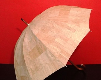 Amazing Cork Umbrella  -  Similar to the exhibited in the New York Museum of Modern Art one / vEGAN eco-friendly Mothers Day Gift Idea