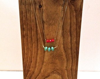 Wooden Jewelry Display - with Horseshoe Stand