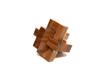 Puzzle 3 Pieces, Puzzle Game, Wooden Puzzle, Woodworking, 100% Handmade