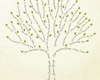 Custom Family Tree - 6 Generations (Digital Copy)