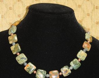 Square Agates Necklace.