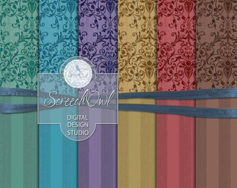 ONE DOLLAR SALE - Background Paper Pack, Decorative Paper, Scrapbooking, Card Making, Decoupage, Collage Sheet, Paper Craft, Craft Supplies