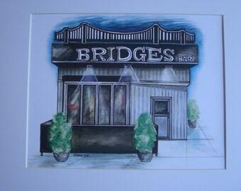 Bridge's, by Karen Paciullo, 2014, Throggs Neck, Bronx, NY, ready to frame art print