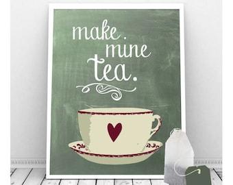 Tea Art Instant Download 8 x 10