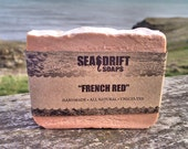French Red Clay - All Natural, Exfoliating, Handmade Soap, Cold Process Soap, Vegan Soap, Unscented French Red Clay Soapp