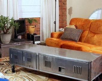 Charming 60 Inch Locker Coffee Table