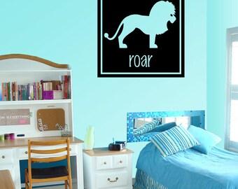 Lion Roar - Vinyl Wall Decal - Wall Quotes - Vinyl Sticker - Anm008ET