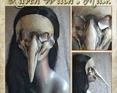 White Bird Skull Plague Doctor Mardi Gras Masquerade Raven Witch's Mask