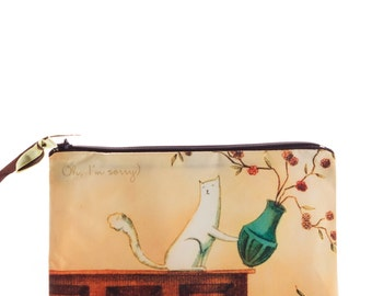 Cosmetic Bag // Oops! //  travel bag - make up bag - bridesmaid clutch