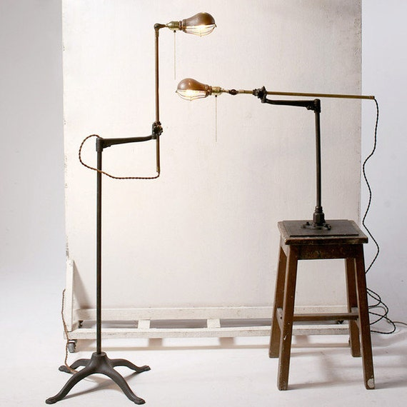 Items Similar To Industrial O.C. White Stand Lamp