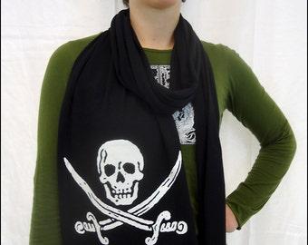 Glow in the Dark Black Pirate Scarf