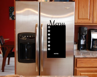 Vinyl wall decal menu