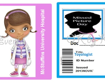 Doc McStuffins Inspired ID Badge - Customizable