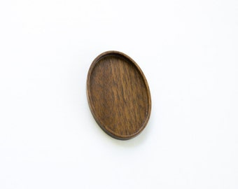 Large LIGHT weight bezel tray delicate finished - Walnut - 34 x 52 mm - (A6-W)