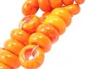 Brushstroke Spacer Set of 6, Melon Orange