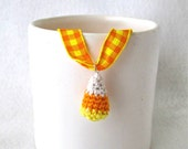 Crocheted Candy Corn Pendant