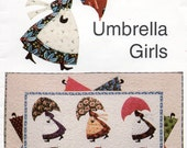 Umbrella Girls  WALL HANGING Quilt Pattern UNCUT ala Mary Poppins Sewing Pattern Betty Alderman Designs 073 UNCuT