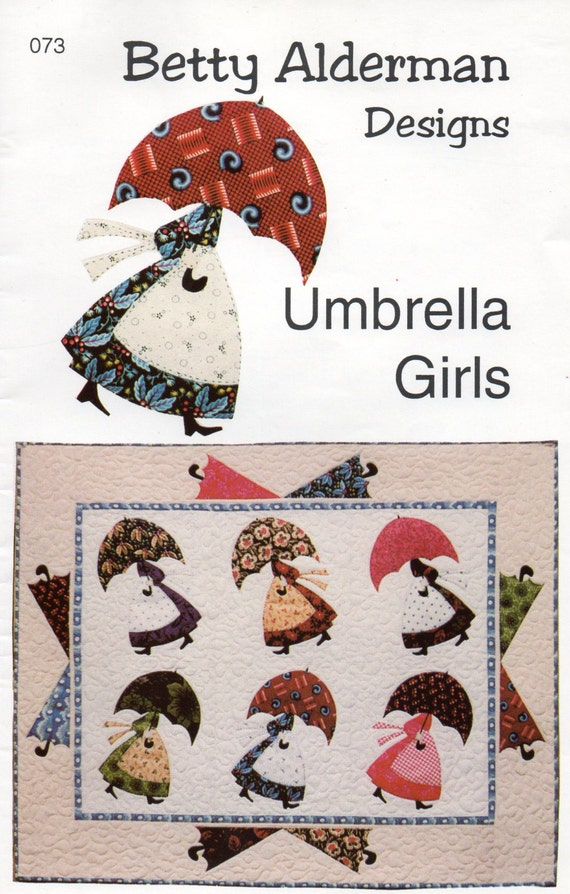 Umbrella Girls Wall Hanging Quilt Pattern Uncut Ala Mary