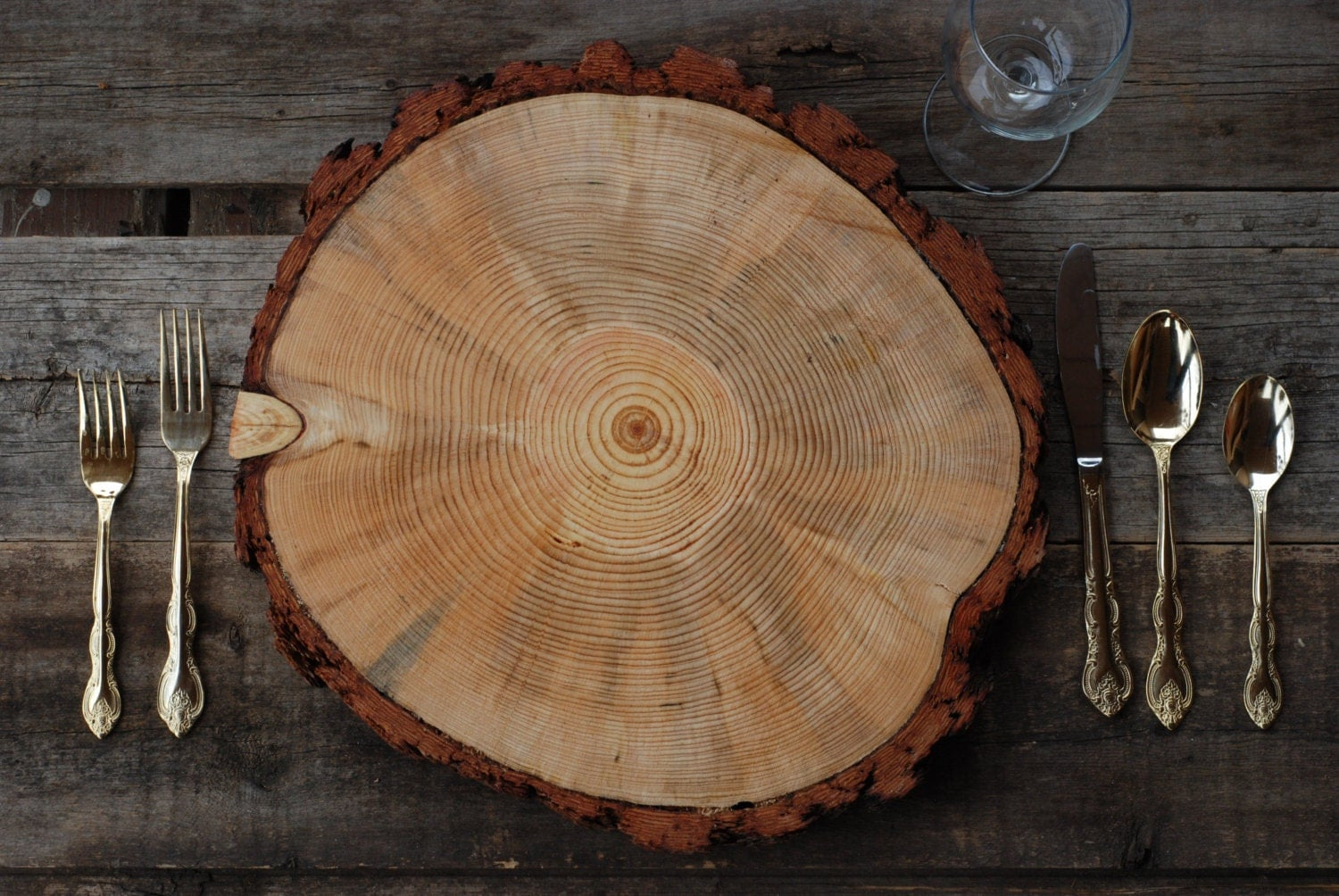 Reduced price 910 rustic wood tree slice charger for What to make with tree logs