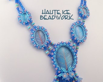 Wishing for Spring Beadwoven Necklace