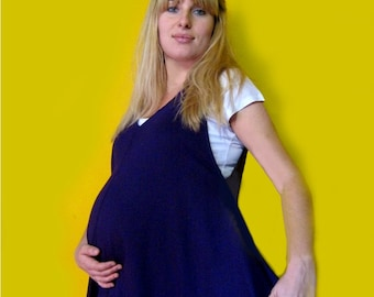 PREGNANCY DRESS for curvy full figures, plus size, purple maternity dress