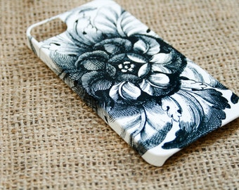 iPhone 6 Case Flower iPhone 5S Case, Black and White,  Case iPhone 6 plus Case