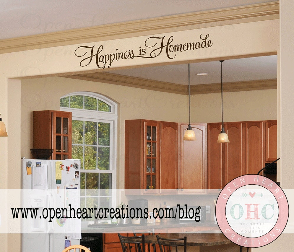 Happiness Is Homemade Kitchen Wall Decal Saying Kitchen