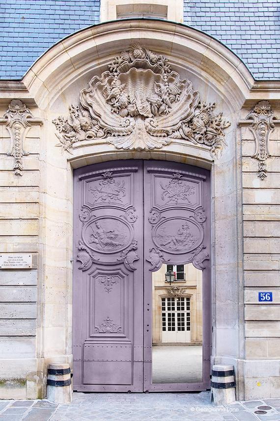 Paris Photography Mauve Door Architectural Photography
