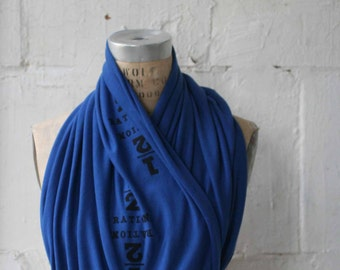 Sale, Women's Infinity Scarves, Royal Blue