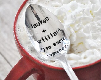 So Sweet Together - Hand Stamped & Personalized Vintage Lover's Spoon (TM) As seen on LaurenConrad.com and Her Instagram