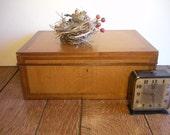 large antique oak document/dresser box