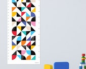 Height Chart / Growth Chart aka Organised Confusion. Geometric growth chart and graphic print. Abstract wall art for the nursery